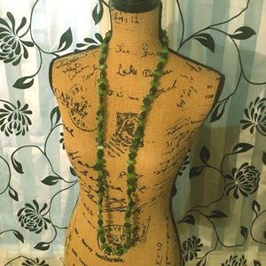 Coldwater Creek Green Beaded Stone Necklace